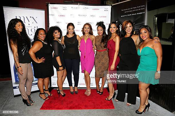 Massy Mankofit Marcy Polanco Valerie Lora Dascha Polanco Nabila Tapia Tahiry Jose Lisa A Ramos Clairbel Almonte and Liz Ariza attend Dominicana's In...