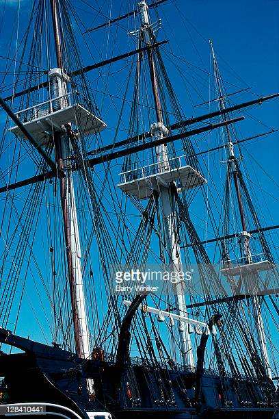mast of the uss constitution, boston, ma