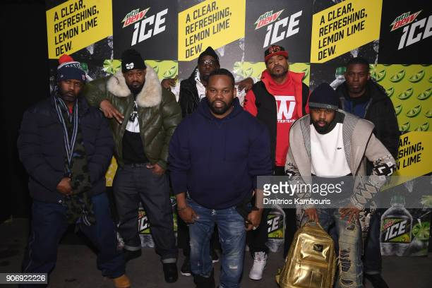 Masta Killa Ghostface Killah RZA Method Man GZA Raekwon and Cappadonna of WuTang Clan attend the Mtn Dew ICE launch event on January 18 2018 in...