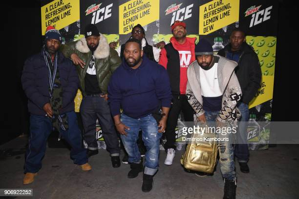 Masta Killa Ghostface Killah RZA Method Man GZA Raekwon and Cappadonna of Wu Tang Clan attends the Mtn Dew ICE launch event on January 18 2018 in...