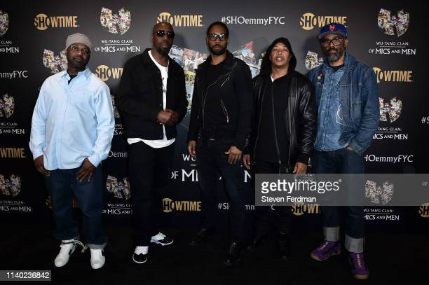 Masta Killa Inspectah Deck RZA UGod and Sacha Jenkins attend a WuTang Clan Of Mics and Men FYC Event at Times Center on April 29 2019 in New York City