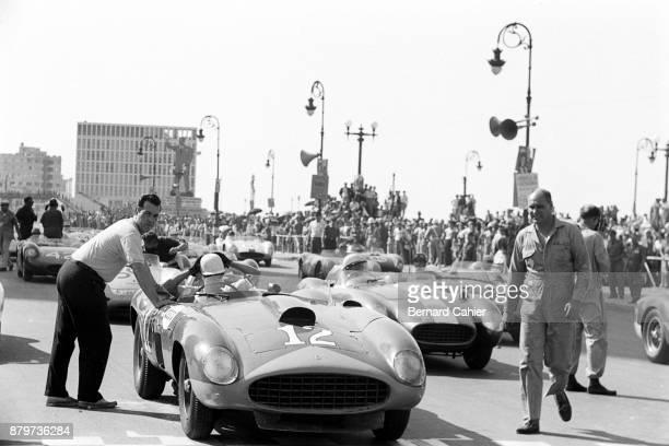 Masten Gregory Ferrari 410 Sport Grand Prix of Cuba Havana 23 February 1958 Masten Gregory on the starting grid of the 1958 Grand Prix of Cuba