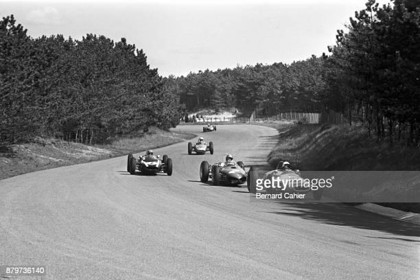 Masten Gregory Giancarlo Baghetti Jack Brabham LotusClimax 18/21 Ferrari 156 LotusClimax 24 Porsche 804 Grand Prix of the Netherlands Circuit Park...