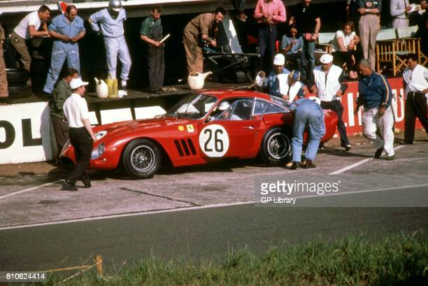 Masten Gregory in a Ferrari 250LMB in the Pits at Le mans 6th
