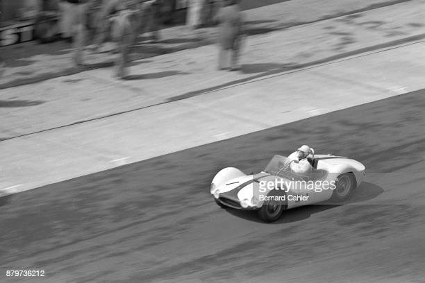 Masten Gregory Maserati Birdcage Tipo 61 1000 Km of Nürburgring Nurburgring 28 May 1961 The victorious Maserai Birdcage of Masten Gregory in the 1961...