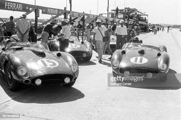 Masten Gregory Peter Collins Ferrari 290S Ferrari 315S 12 Hours of Sebring Sebring 23 March 1957
