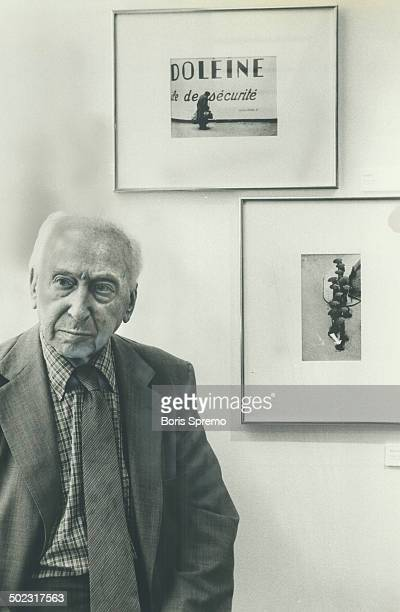 Master and his works Andre Kertesz stands in front of a couple of his works on display at the Canadian Centre of Photography on Markham St The...