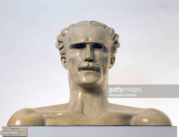 """Master Arturo Toscanini , by Adolfo Wildt 20th Century, marble 5 x 111 x 50 cm Italy, Lazio, Rome, National Gallery of Modern Art - GNAM, Inventory..."