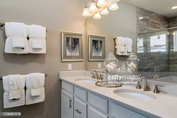 Master Bath in the Emerson model Home at Potomac Shores on August 25, 2020 in Dumfries Virginia.