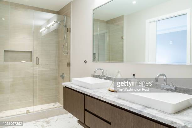 Master Bath in the furnished Model at Adora on January 27, 2021 in Washington DC.