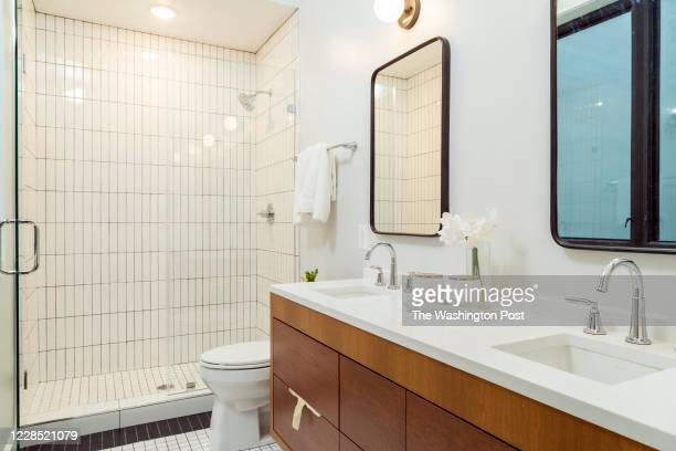 Master Bath in the model unit at Beecher Hill on September 10, 2020 in Washington DC.