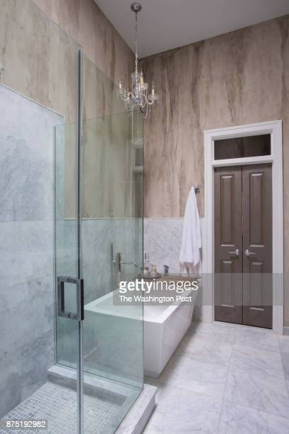 Master bath room In the NW DC townhouse renovated by Yvette Freeman in Washington DC on November 14 2017