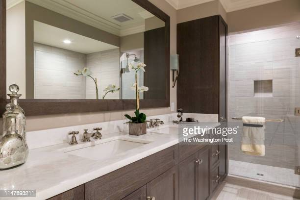 Master Bath Vanity in Unit 306 at The Signet on May 28 2019 in McLean Virginia