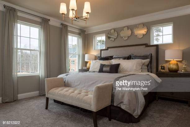 Master Bedroom in the Ellicott model home at Spring Creek on January 24 2018 in Laurel Maryland