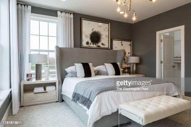 Master Bedroom in the model Townhome at Dream Finders Homes at Glenmont MetroCentre on October 30 2019 in Silver Spring Maryland