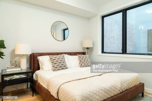 Master Bedroom in the model unit at Beecher Hill on September 10, 2020 in Washington DC.