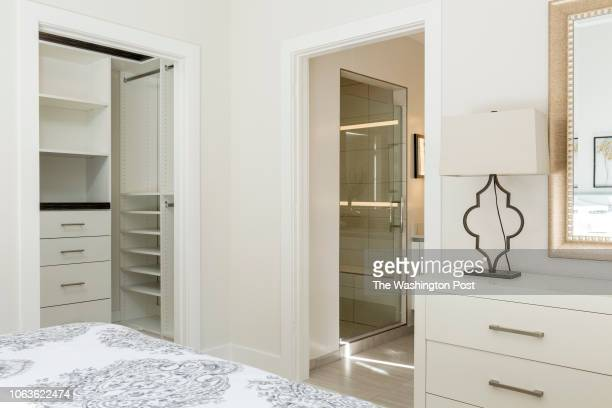 Master Bedroom with WalkIn closet and view of Bath in Unit 211 of the historically renovated building at 1745 N Condominiums on October 31 2018 in...