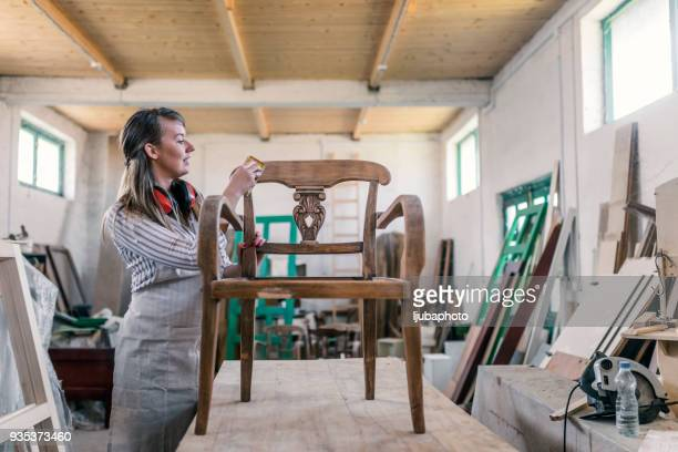 master carpenter at work - furniture stock pictures, royalty-free photos & images