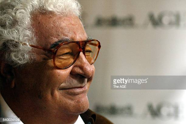 Master chef Antonio Carluccio at the announcement of The Age's sponsorship of the Melbourne Food Wine Festival on 27th July 2006 THE AGE NEWS Picture...