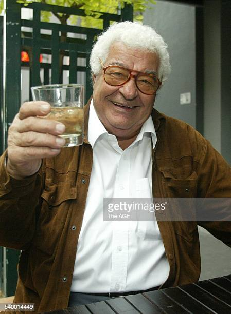 Master Chef Antonio Carluccio says cheers at the announcement of The Age's sponsorship of the Melbourne Food Wine Festival on 27th July 2006 THE AGE...