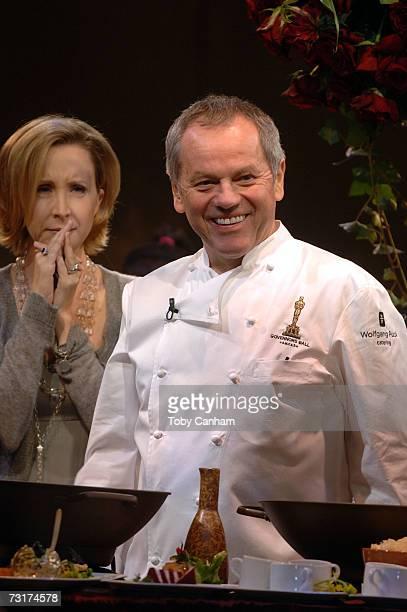 Master Chef Wolfgang Puck shows his culinary skills at the Oscar Govenor's Ball Press Preview held at the Hollywood and Highland Grand Ballroom...