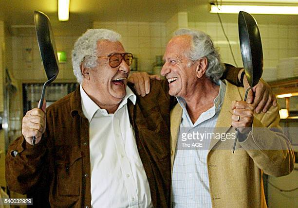 Master chefs Antonio Carluccio and Michel Roux at the announcement of The Age's sponsorship of the Melbourne Food Wine Festival on 27th July 2006 THE...