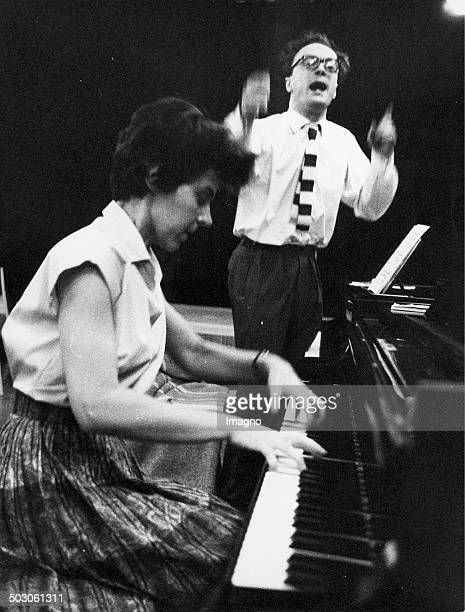 Master Class for Piano Led by pianist Alfred Brendel at the piano a student Photograph by Franz Hubmann Ca 1960