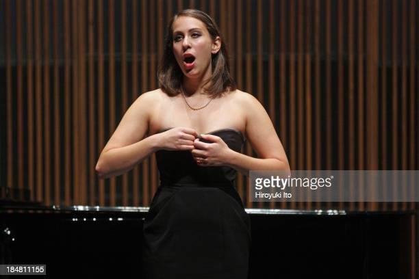 Master Class with Richard Bonynge at the Juilliard School on Wednesday night, October 9, 2013.This image:Elizabeth Sutphen.