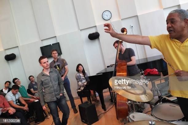 Master class with the Cuban drummer Ignacio Berroa at the Juilliard School on Friday afternoon, September 13, 2013.
