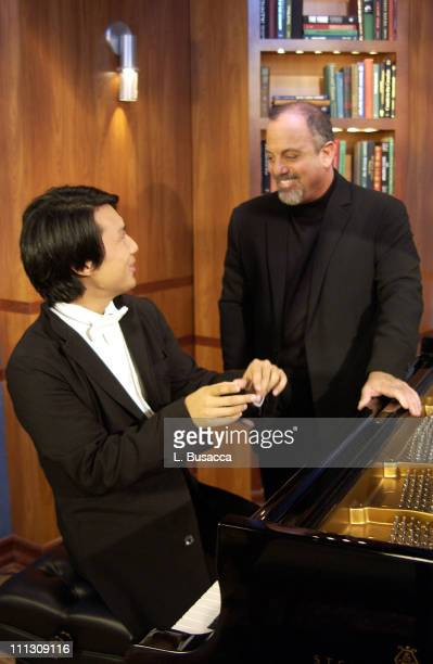 Master composer and Rock 'n Roll Hall of Fame member Billy Joel pictured with pianist Richard Joo was on the set of AE's BREAKFAST WITH THE ARTS to...