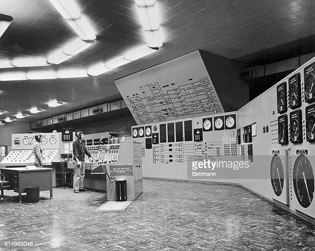 Master control room of the engine test facility at the Arnold Engineering Development Center which is part of the US Air Force's Air Research and...