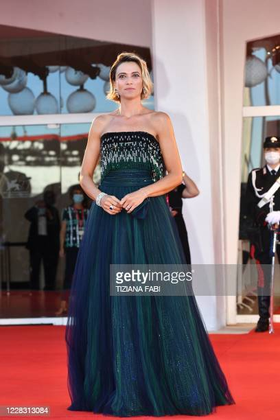 Master of Ceremonies and festival sponsor Italian actress Anna Foglietta arrives for the opening ceremony and the screening of the film Lacci on the...