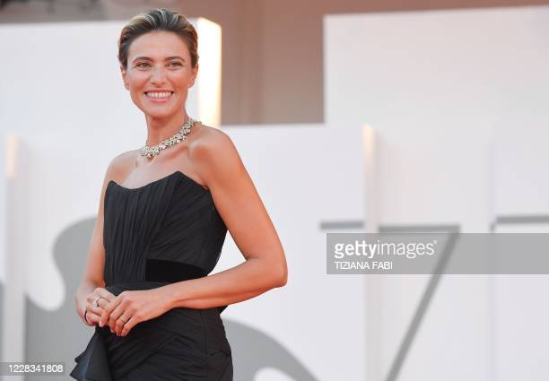 Master of Ceremonies and sponsor of the festival Italian actress Anna Foglietta arrives for the screening of the film Padrenostro presented in...