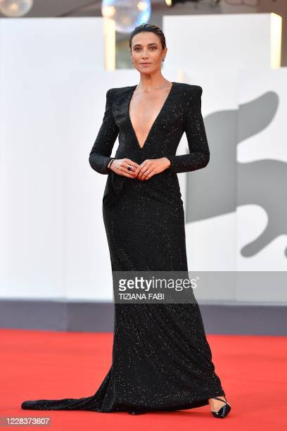 Master of Ceremonies and sponsor of the festival Italian actress Anna Foglietta arrives for the screening the film The World to Come presented in...