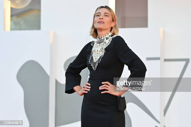 Master of Ceremonies and sponsor of the festival Italian actress Anna Foglietta arrives for the screening of the film Notturno presented in...