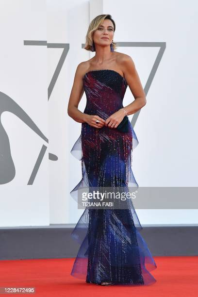 Master of Ceremonies and sponsor of the festival Italian actress Anna Foglietta arrives to attend the closing ceremony of the 77th Venice Film...