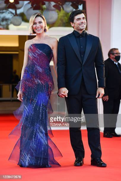 Master of Ceremonies and sponsor of the festival Italian actress Anna Foglietta and her husband Paolo Sopranzetti arrive to attend the closing...