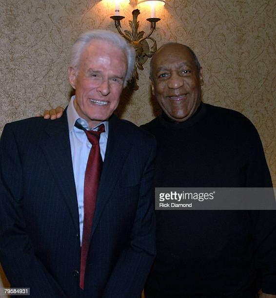 LOS ANGELES CA FEBRUARY 05 Master of Ceremonies Bill Cosby and I SPY Actor Robert Culp at The 2008 Grammy Salute to Jazz at The Biltmore Hotel in Los...