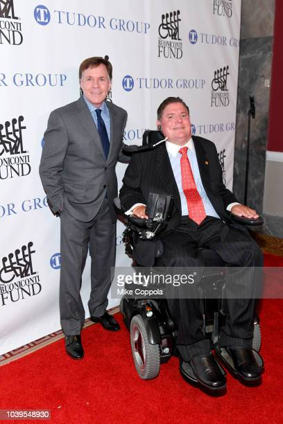 Master of Ceremonies Bob Costas and Marc Buoniconti attend the 33rd Annual Great Sports Legends Dinner, which raised millions of dollars for the...