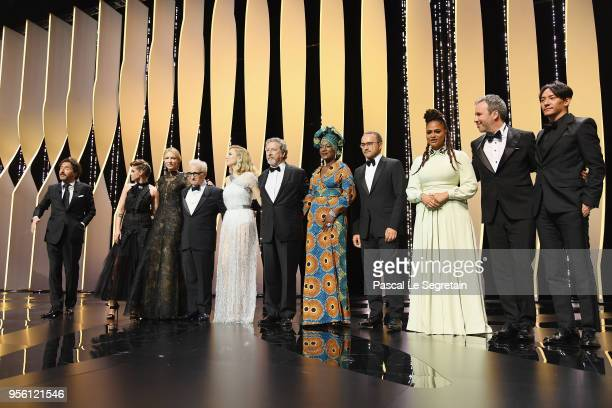 Master of Ceremonies Edouard Baer jury member Kristen Stewart jury president Cate Blanchett director Martin Scorsese and jury members Lea Seydoux...