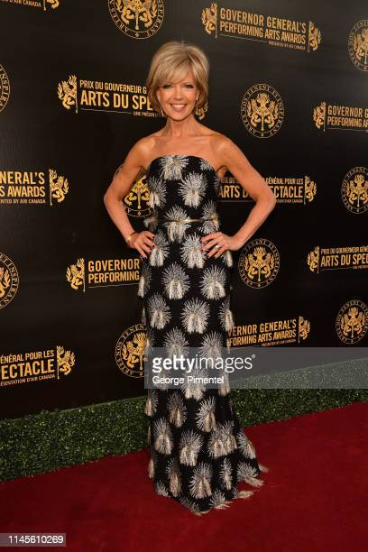 Master of ceremonies Heather Hiscox CBC News Network arrives on the red carpet at the Governor General's Performing Arts Awardsat National Arts...