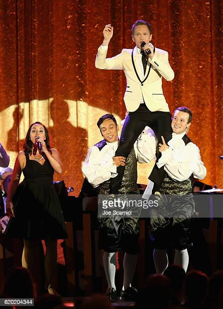 Master of Ceremonies Neil Patrick Harris performs onstage at The Walt Disney Family Museum's 2nd Annual Gala at Disney's Grand Californian Hotel Spa...