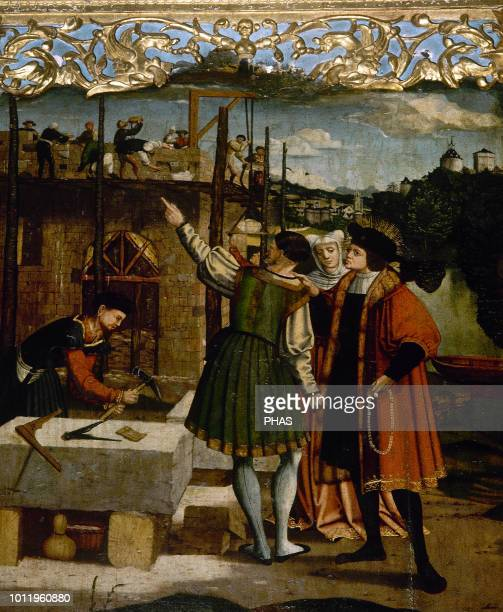Master of Ororbia Anonymous author active in Navarre 16th century Altarpiece of Church of St Julian of Ororbia 1520 Detail St Julian visiting the...
