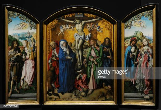 Master of the Altarpiece of Saint Bartholomew Altarpiece of the Holy Cross 14901495 WallrafRichartz Museum Cologne Germany