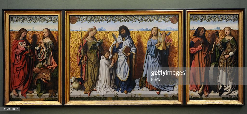Saint Bartholomew Altarpiece. : News Photo