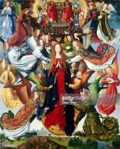 Master of the Saint Lucy Legend Mary Queen of Heaven Netherlandish active c 1480c 1510 c 14851500 oil on panel