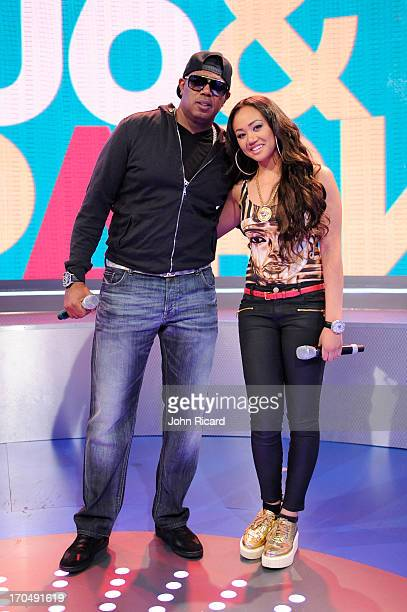 Master P and Cymphonique Miller visit 106 Park at BET Studios on June 12 2013 in New York City