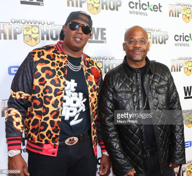 Master P and Damon Dame Dash attends WEtv and The Cast of Growing Up Hip Hop screening event and celebration at The London West Hollywood on May 22...