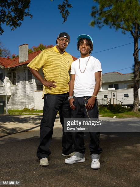 Master P and his son Romeo in their hometown of New Orleans