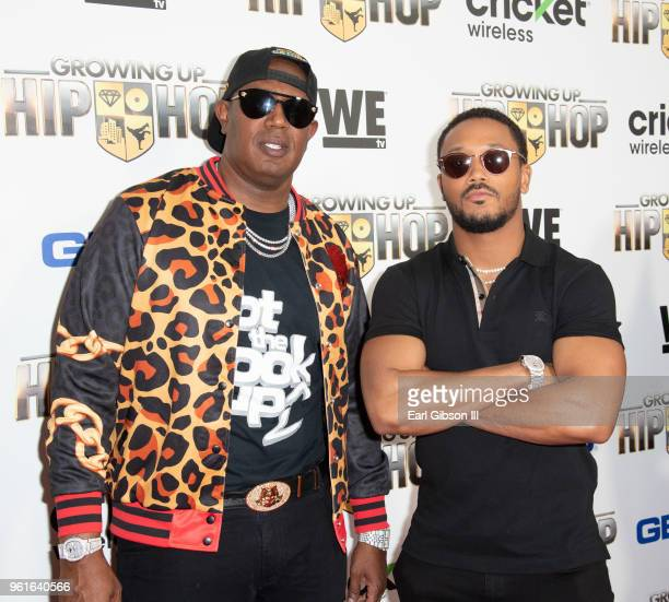 Master P and his son Romeo Miller attend the Premiere Of WEtv's Growing Up Hip Hop Season 4 on May 22, 2018 in West Hollywood, California.
